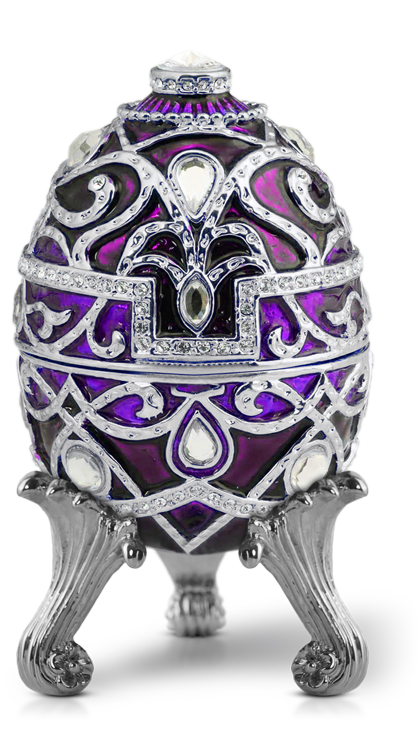 The Majestic Purple Diamond Egg